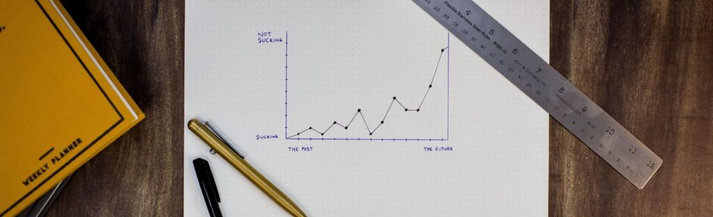 graph showing sales going up